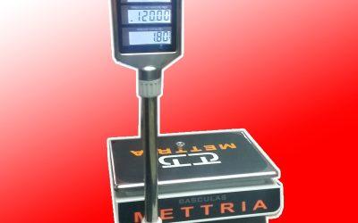 Bascula Comercial Mettria MTUV40 con torreta