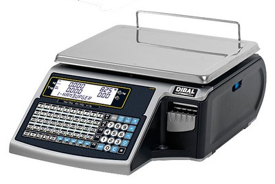 Dibal Mistral 500 con display e impresora de tickets y etiquetas