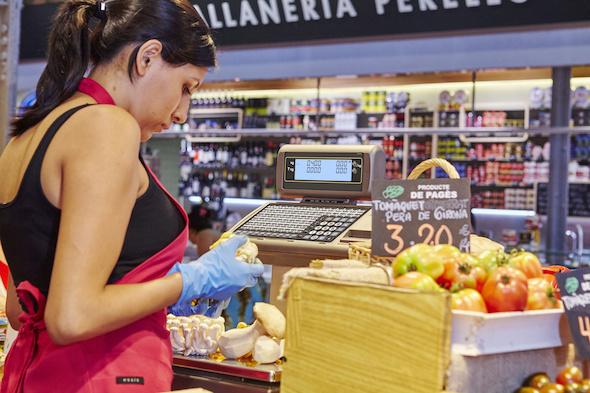 dibal-balanzas-comerciales-con-impresora-de-tickets-y-o-etiquetas-y-display-de-segmentos-o-grafico-instalacion-balanza-m-520-formato-doble-cuerpo-en-fruteria-1194099-FGR